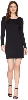 Kensie French Terry Crosshatch Sleeve Dress KS4K990S Women's Dress