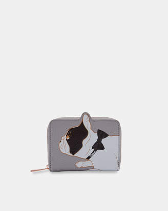 Ted Baker ZHOE Cotton Dog small leather zip purse