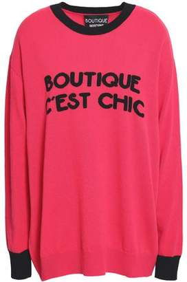 Moschino Intarsia-Knit Wool And Cashmere-Blend Sweater