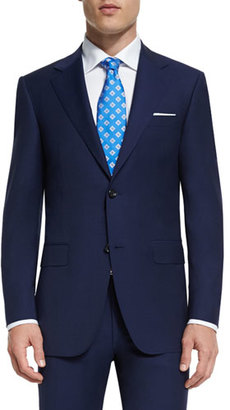 Canali Sienna Contemporary-Fit Solid Two-Piece Travel Suit, Navy $1,895 thestylecure.com