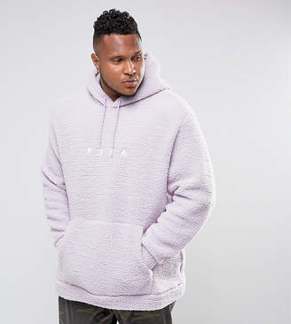 Puma PLUS Borg Pullover Hoodie In Lilac Exclusive to ASOS 57658201