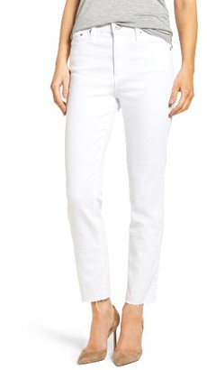 Women's Ag The Isabelle High Waist Crop Straight Leg Jeans $205 thestylecure.com
