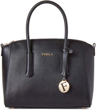 Furla Black Tessa Small Leather Satchel