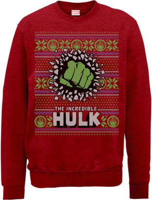 Marvel Comics The Incredible Hulk Red Christmas Sweatshirt