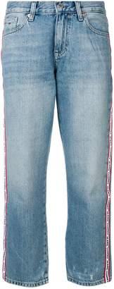 Tommy Jeans logo tape boyfriend jeans