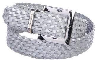 Michael Kors Metallic Braided Leather Belt