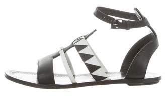 Proenza Schouler Leather Cutout Sandals