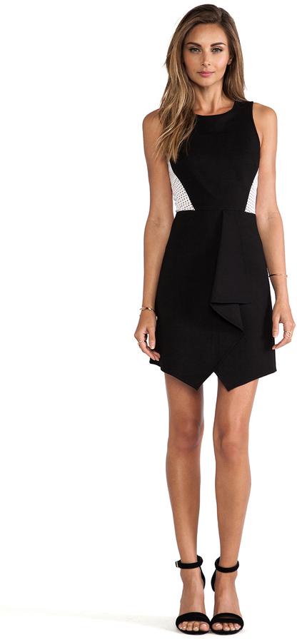 Tibi Ponte Eyelet Combo Dress