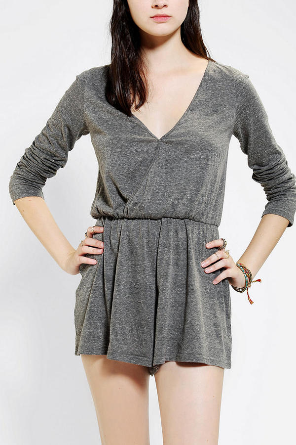 Urban Outfitters Ecote Knit Surplice Romper
