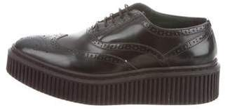 Burberry Leather Platform Creepers