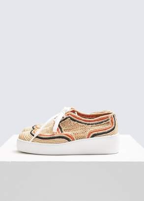 Robert Clergerie Rafia Taille Sneaker
