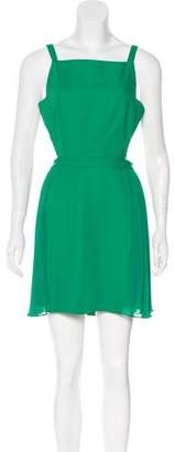 BCBGMAXAZRIA Cutout-Accented Knee-Length Dress
