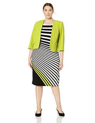 fb60dc992a8 Maya Brooke Women s Plus Size Striped Jacket Dress
