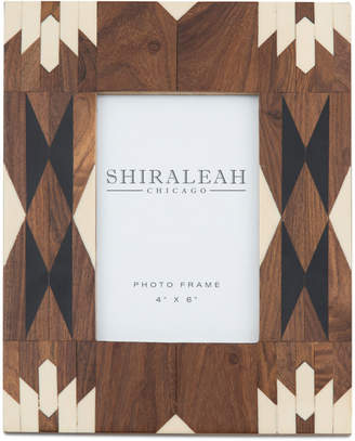 """Shiraleah 4"""" x 6"""" Picture Frame with Navajo-Inspired Inlay"""