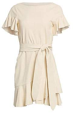 Cinq à Sept Women's Aimee Leather Tie Waist Dress - Size 0
