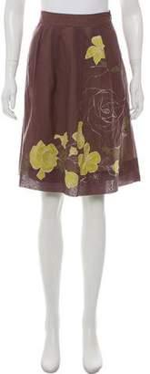 Yoana Baraschi Floral Print Midi Skirt