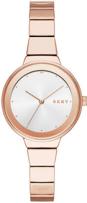 DKNY Women Astoria Rose Gold-Tone Bracelet Watch 32mm