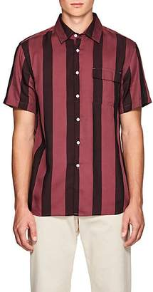 Saturdays NYC Men's Nico Broad-Striped Twill Shirt - Wine