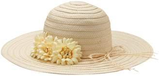 Girls 4-16 Floral Floppy Hat