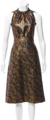 Prada Brocade Midi Dress