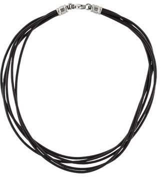 Bvlgari Multistrand Leather Cord Necklace