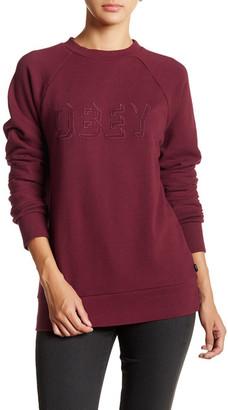 Obey Shadow Stripe Crew Sweater $58 thestylecure.com