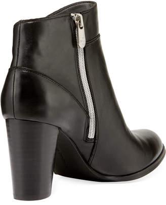 Adrienne Vittadini Tammy Seamed Soft-Leather Bootie