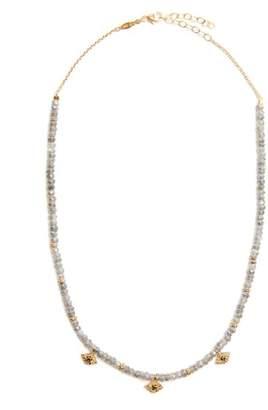 Jacquie Aiche Diamond, labradorite & yellow-gold necklace