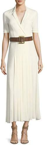Ralph Lauren Collection Tabatha Short-Sleeve Long Jersey Dress