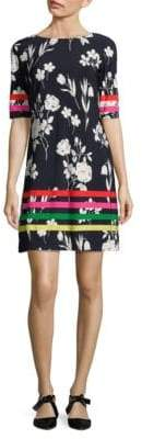 Eliza J Floral-Print Shift Dress