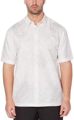 Cubavera Paisley Print Linen Blend Shirt