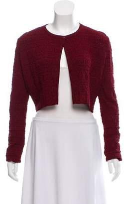 Alaia Crop Long Sleeve Cardigan