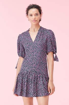 Rebecca Taylor Wild Rose Silk Twill Dress