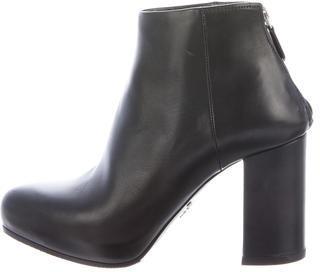 pradaPrada Leather Semi-Pointed Ankle Boots
