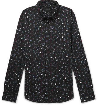 Club Monaco Slim-Fit Printed Cotton-Poplin Shirt