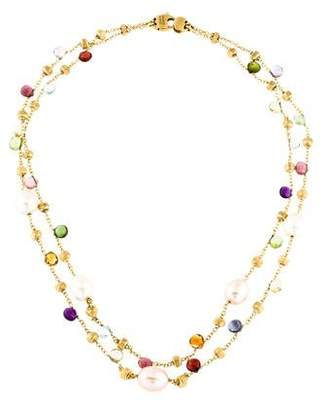Marco Bicego 18K Multistone & Pearl Paradise Double Strand Necklace