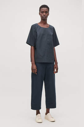 Cos RELAXED COTTON-POPLIN TOP