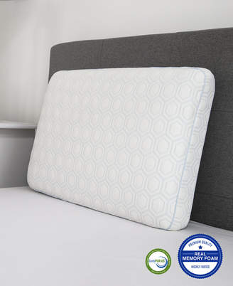 Sensorgel Luxury Gel-Infused Memory Foam Oversized Gusseted Pillow with Heat Reducing COOLcloth Cover and Built-In iCOOL Technology System
