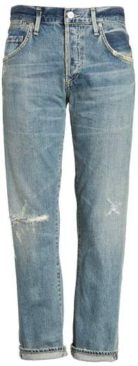 Citizens of Humanity Emerson Ripped Slim Boyfriend Jeans