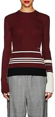 Calvin Klein Women's Striped Mixed-Knit Sweater