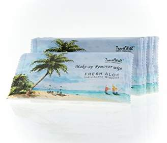 Alöe TRAVELWELL Fresh Individually Wrapped Makeup Remover Cleansing Travel Wipes