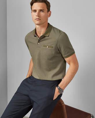 Ted Baker DYA Textured cotton polo shirt