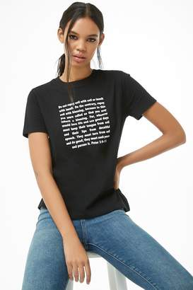 Forever 21 Peter Verse Graphic Tee
