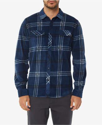 O'Neill Men Glacier Ridge Standard-Fit Plaid Super Fleece Shirt