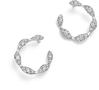 Bloomingdale's Diamond Circle Small Earrings in 14K White Gold, .60 ct. t.w. - 100% Exclusive