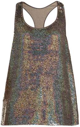Ashish Racer-back sequin-embellished tank top