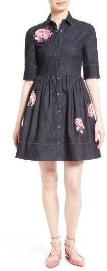Kate Spade Women's Kate Spade New York Floral Denim Shirtdress