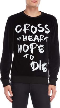 Religion Cross My Heart Velour Sweatshirt