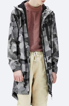 Rains Camo Waterproof Rain Parka