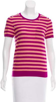 Sonia Rykiel Sonia by Striped Embellished Top